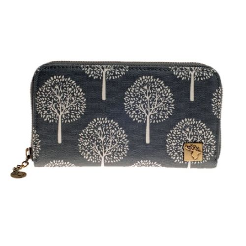 House of Tweed Purse in Grey Mulberry Tree Print